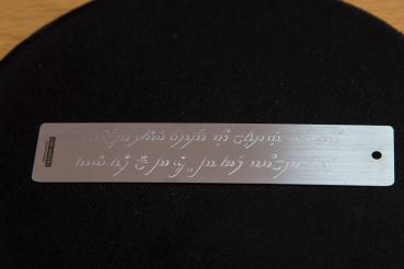 Unique hand-engraved Elven-bookmark