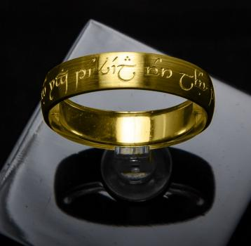 Golden Elven-Ring - individually laser-engraved