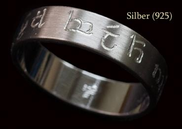 Elven-Ring - individually hand-engraved - silver or stainless steel